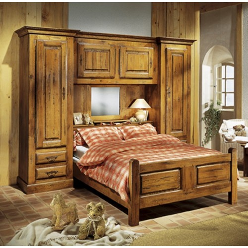 lit pont vieux bois fran ois meubles de normandie. Black Bedroom Furniture Sets. Home Design Ideas