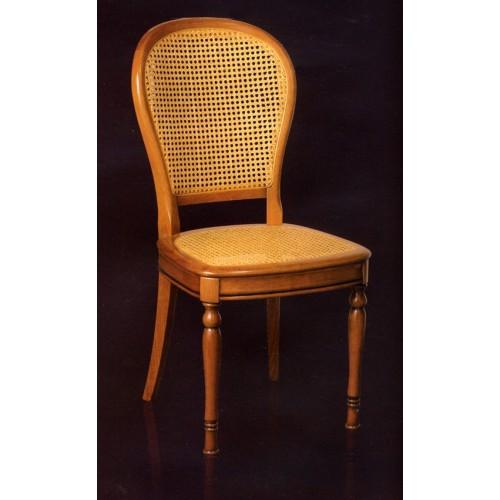 chaise louis philippe n 5 en merisier et cannage meubles. Black Bedroom Furniture Sets. Home Design Ideas