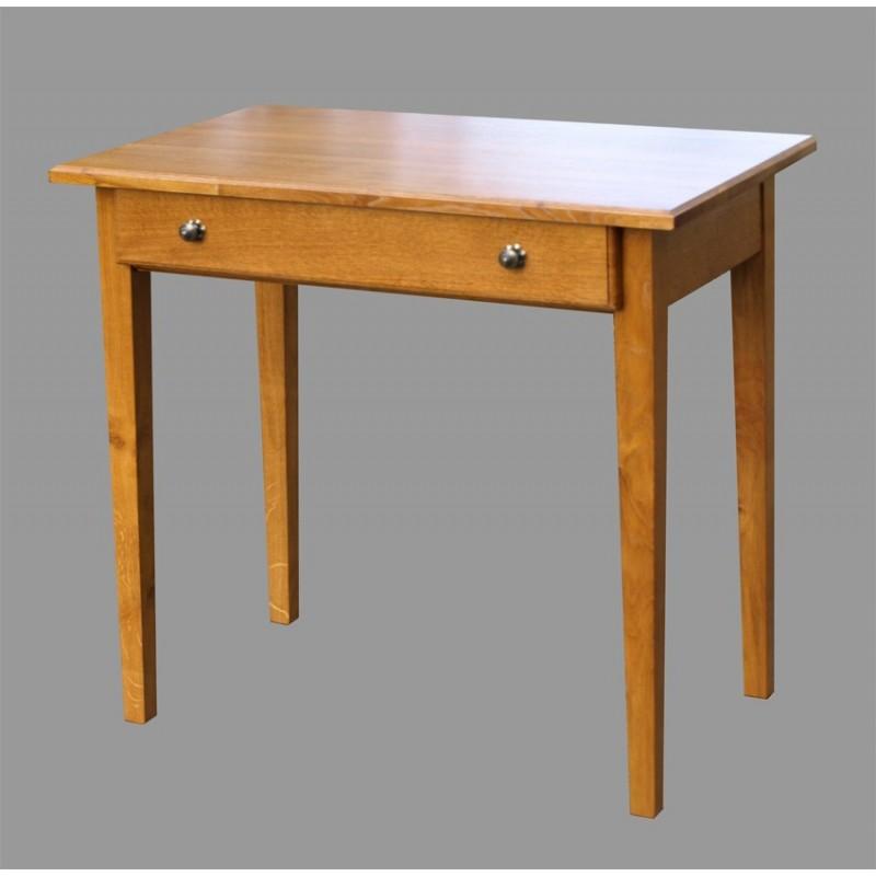 petite table campagnarde en chêne n° 1 - meubles de normandie