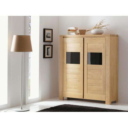 biblioth que ferm e 2 portes arlequin meubles de normandie. Black Bedroom Furniture Sets. Home Design Ideas
