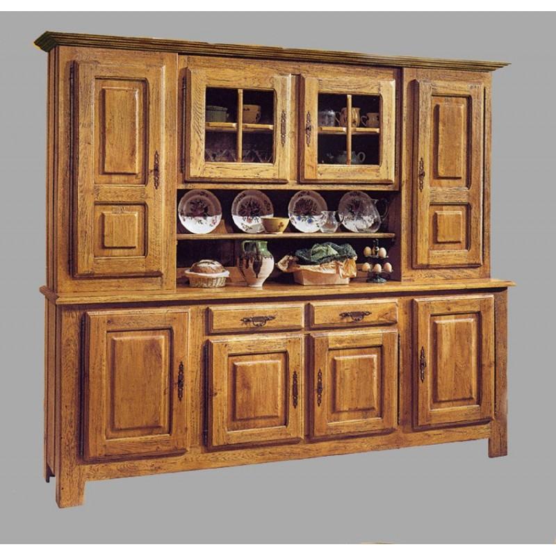 vaisselier 8 portes vieux bois fran ois meubles de normandie. Black Bedroom Furniture Sets. Home Design Ideas