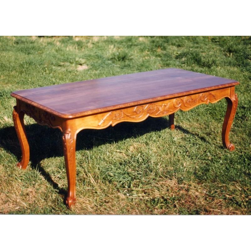Table normande rectangulaire mathilde merisier meubles de normandie - Meuble mathilde ...