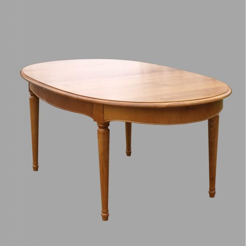 table ovale ceintur e n 2 en merisier val rie i meubles de normandie. Black Bedroom Furniture Sets. Home Design Ideas