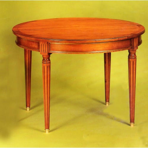 table ronde louis xvi en merisier meubles de normandie. Black Bedroom Furniture Sets. Home Design Ideas