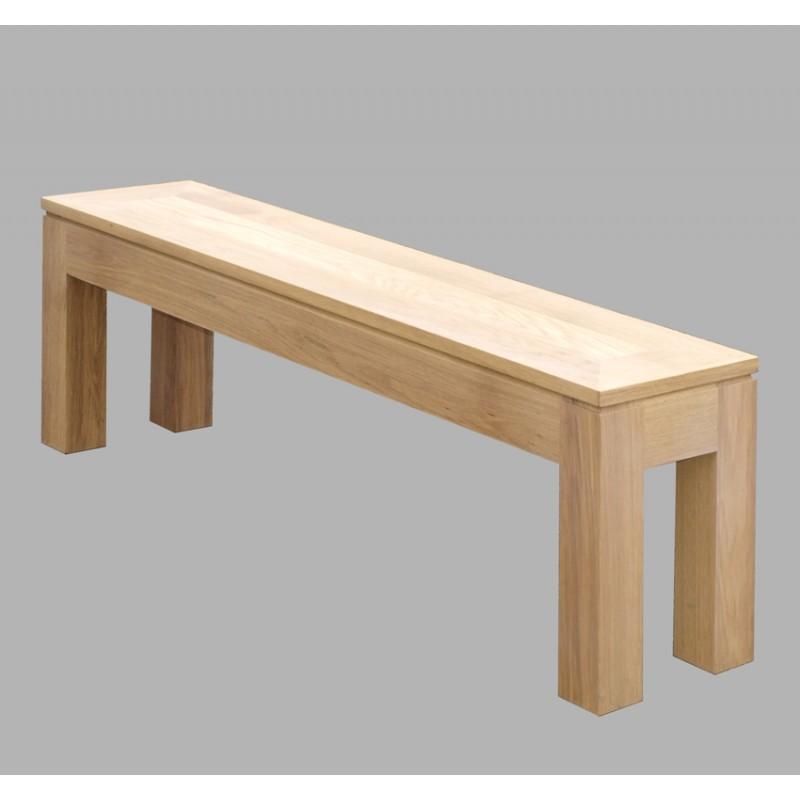Banc contemporain arlequin meubles de normandie for Banc bois salle de bain