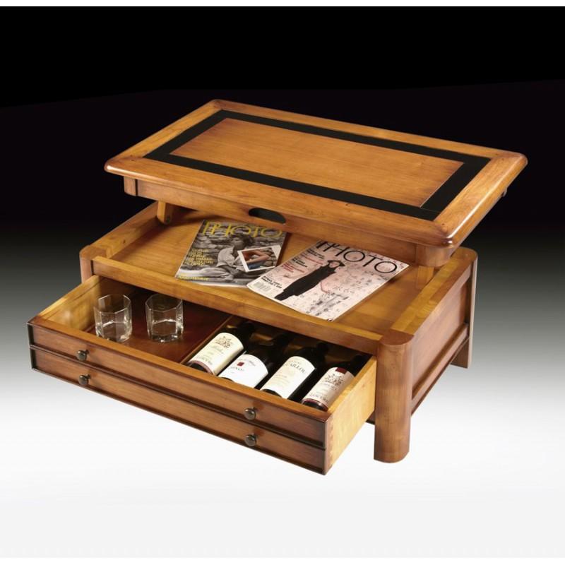 Table de salon dinatoire jade meubles de normandie for Fabrication de salon