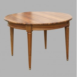 Table ronde Louis XVI en noyer