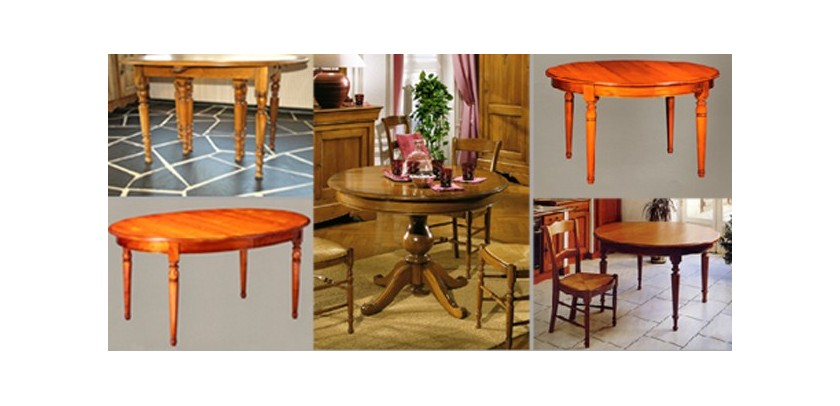 tables de style louis philippe meubles de normandie. Black Bedroom Furniture Sets. Home Design Ideas