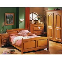 Chambres a coucher meubles de normandie - Chambre a coucher merisier ...